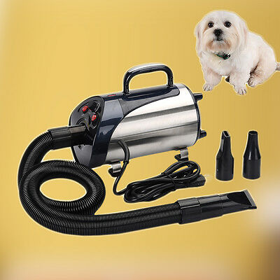 New 2800W Quiet Hair Dryer With Nozzle for Pets Dog Cat Pet Force Dryer Heater