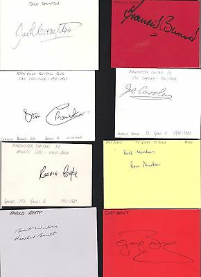 Card signed by RON 'RONNIE' BURKE the 1946-49 MANCHESTER UNITED Footballer