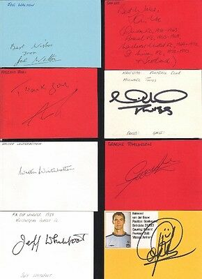 Signed card by IAN URE the 1969-72 MANCHESTER UNITED footballer