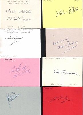 Signed card by STEVE PATERSON the 1975-80 MANCHESTER UNITED footballer