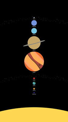 """020 Solar System - The Sun Planets Moons Comets Meteors 14""""x24"""" Poster"""