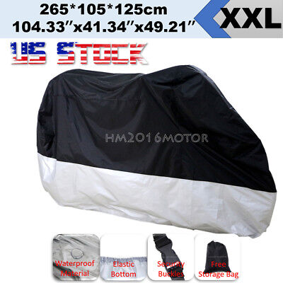 XXL Motorcycle Cover For Suzuki Vstrom 650 1000 DL650 DL1000 Silver US Stock
