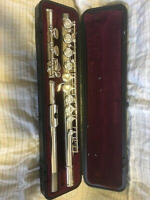 Yamaha silver plated flute YFL225SII made in Japan