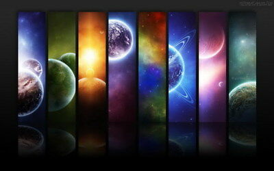 """006 Solar System - The Sun Planets Moons Comets Meteors 38""""x24"""" Poster"""