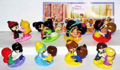 DISNEY Prince Princess couples KINDER SURPRISE collection NEW set 8 BPZ Russland