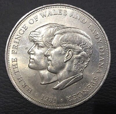 1981  Great Britain  Prince Charles And Diana Wedding Crown Coin