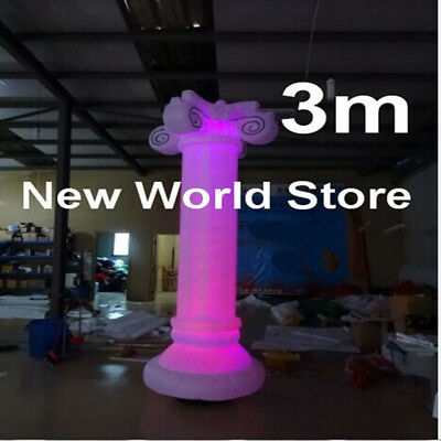 Color Changeable Inflatable LED light Column For Decoration(3m 10ft Height)
