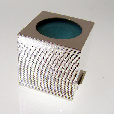 Silver Plated Snooker Chalk Holder With Engine Turned Pattern