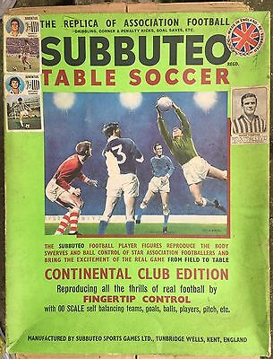 Subbuteo Table Soccer Continental Club Edition Vintage!!!