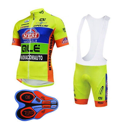 C001 2017 9D pad Cycling Short Sleeve Clothing Men Bicycle Jersey+Bib Shorts set