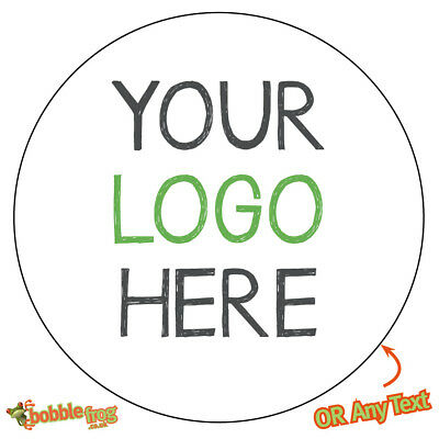 YOUR LOGO Printed Custom Round Personalised Stickers Labels Promotion  -887