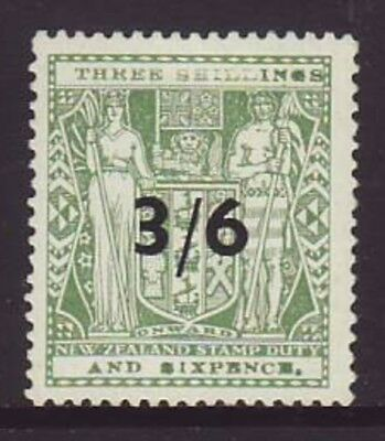 NEW ZEALAND 3/6 Green Coat of ARMS Mint Very lightly Hinged