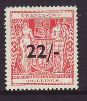 NEW ZEALAND 22/- Red Coat of ARMS Mint Very lightly Hinged