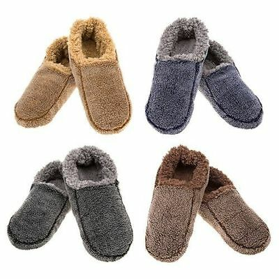 Snoozies Mens Washable slippers super soft warm fleece  cosy Colour two tone New