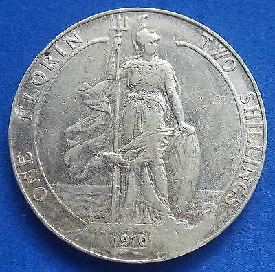 1910 Florin / Two Shillings - Low Mintage