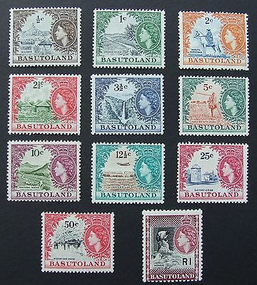 Basutoland 1961-63 Definitives Set  11 Values   Sg69/79 Mnh