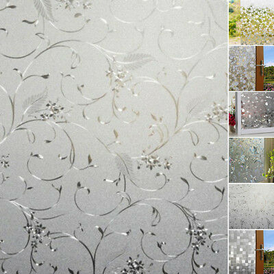 200*45CM Bedroom/Bathroom Glass Window Door Privacy Film Sticker PVC Frosted