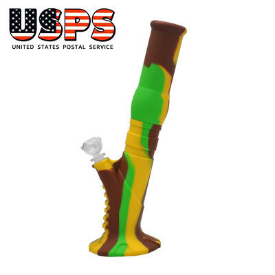 Silicon Bong Water Pipe Colorful Silicon Pipes 13.3 inch Dab Dabbing Hookah