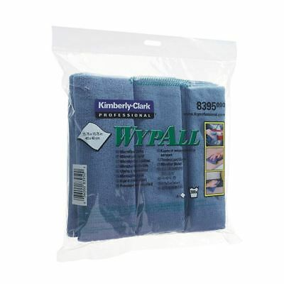 Wypall Blue Microfibre Cloth (Pack of 6) 8395, Size: 400x400mm [KC83950]