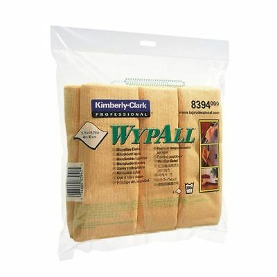 Wypall Yellow Microfibre Cloth (Pack of 6) 8394, Size: 400x400mm [KC83940]