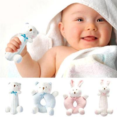 Baby Boy Girl Rattle Toy Newborn Animal Design Plush Hand Bells for Christmas LH