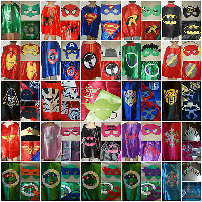 Superhero Kids Cape And Mask  Super Hero Costume Fancy Dress Up Cape & Mask