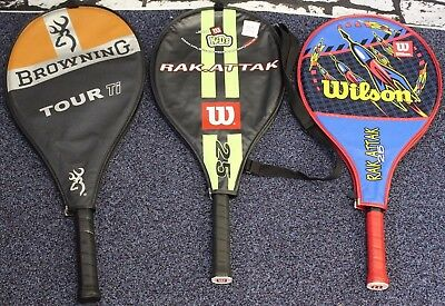 3 Tennis Rackets- 2 Wilson Rackets and 1 Browning Tour Ti Racket  ##DACTSSE