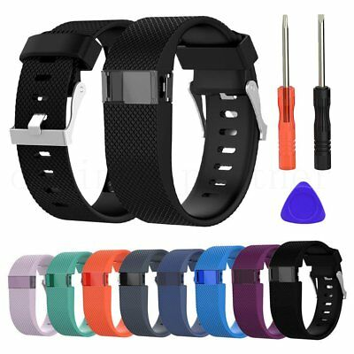 Replacement Silicone Wristband Strap Watch Band Bracelet For Fitbit Charge HR
