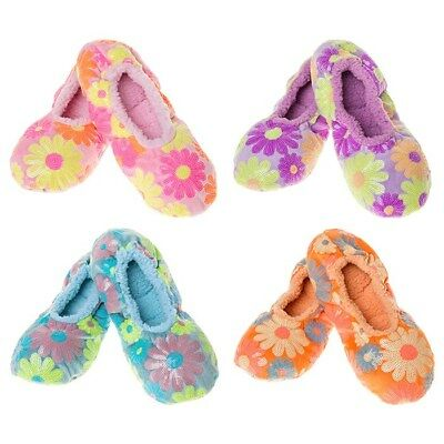 Snoozies slippers washable super soft warm fleece & cosy Style Daisy Bling  Asst