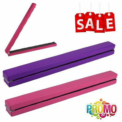 High Gymnastics Balance Beam Home Training Equipment Folding Gym Bar 210 / 240cm