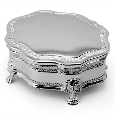 NEW Whitehill Louis Small Silver Plated Jewellery Box