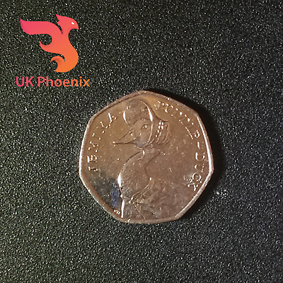 From Beatrix Potter Set ~ JEMIMA PUDDLEDUCK ~ 50p Fifty Pence Coin 2016 Rare PP