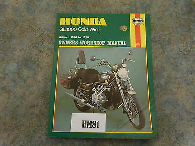 Honda Gl1000 Goldwing Haynes Manual    (Hm81)