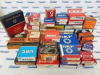 Ball Bearings Lot - SKF, Timken, Nachi, Fafnir, Mrc & Others - Lot of 41 Boxes