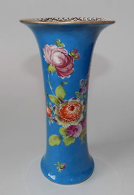 Antique Dresden Hand Painted Porcelain Vase