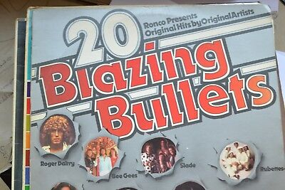20 Blazing Bullets    1970`s  Compilation      Lp      Vg Con