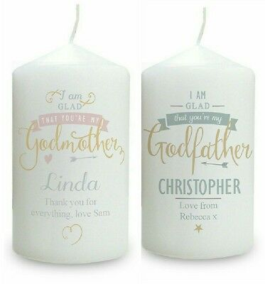 Godmother Gift Godfather Gift Godparent Gift Christening Candle