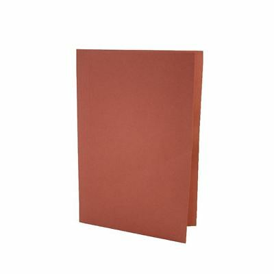 Guildhall Foolscap Red Mediumweight Square Cut Folder Pack of 100 [JT43208]