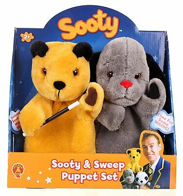 Original The Sooty Show Sooty Sweep Hand Puppet Set Sootys Wand Included New