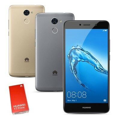 New & Sealed Factory Unlocked HUAWEI Y7 Prime Black Gold Dual SIM Android Phone