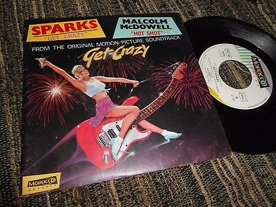 """Get Crazy Bso Ost Sparks/malcolm Mcdowell Get Crazy/hot Shot 7"""" 1983 France"""