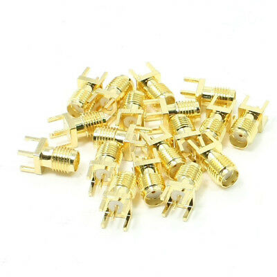 20x(20x End Start PCB Mount SMA Buchse Stecker gerade RF Stecker Adapter V3 K6O5