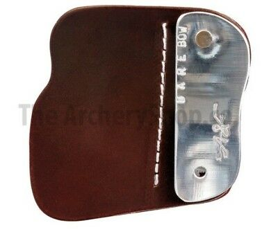 New Archery A&F Barebow Finger TAB - Durable Leather Face - White stitching