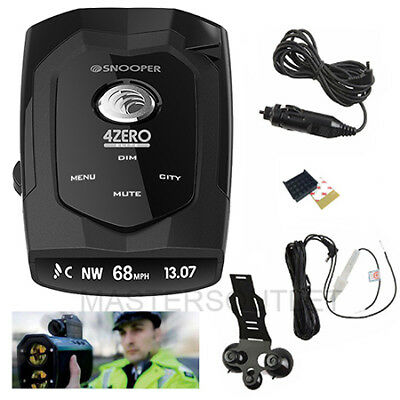 Snooper 4Zero Elite GPS Fixed Camera Mobile Laser/ Speed Trap/ Radar/ Detector