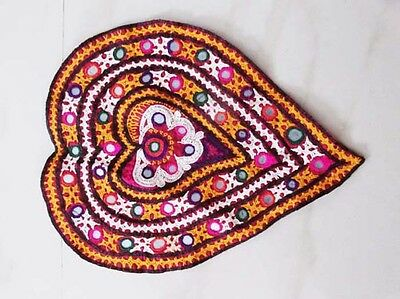 Vintage Rustic Indian Tapestry Banjara Embroidered Art Wall Hanging Decoration