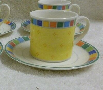 Villeroy & Boch TWIST ALEA LIMONE Flat Cup and Saucer Set -Discontinued
