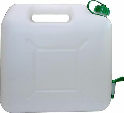 All Ride 15L 15 Litre Clear Plastic Jerry Can Jerrycan with Tap