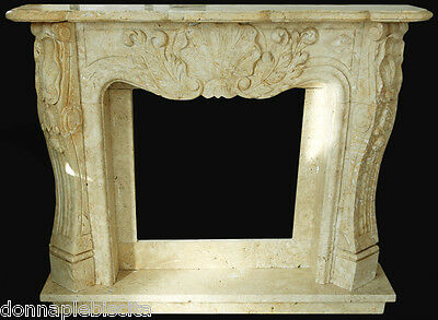 Fireplace Travertine handcrafted Travertine Fireplace style Classic louis XVI