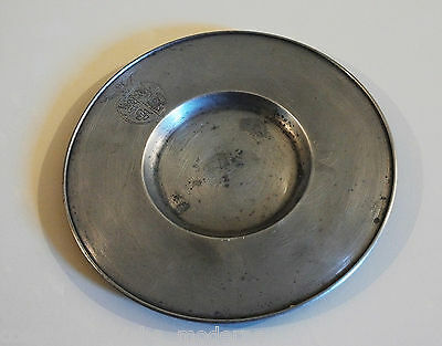 Pewter Plate '900 Vintage Pewter Dish Plateau Made in Italy AR BRE ETAIN PURE