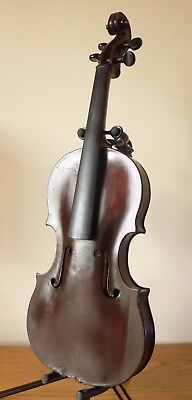 c1800 ANTIQUE VIOLIN FOUND DAMAGED AT BATTLE OF WATERLOO c1815 PROBABLY ENGLISH